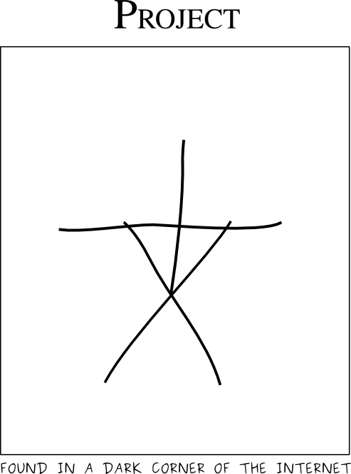 creepy Blair witch stick figure in the style of xkcd